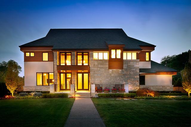 Custom home in birmingham mi contemporary exterior for Custom home builders birmingham al