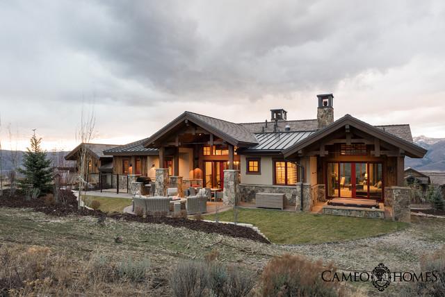 Custom Home In Tuhaye Utah By Park City Builder Cameo Homes Inc Rustic Exterior Salt Lake