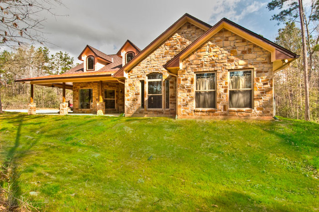 Custom Home Plantersville, Texas - Rustic - Exterior - houston - by GB General Contractors