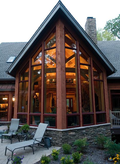 Custom Home Timber Frame Dream Contemporary Exterior