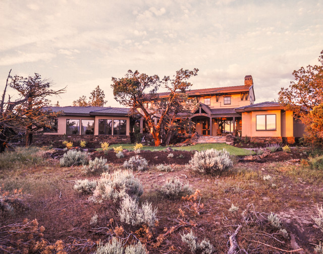 Custom Home Tumalo Oregon Eclectic Exterior Other By Obsidian Architecture Llc