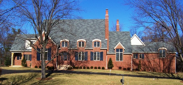 custom home traditional exterior st louis by will development
