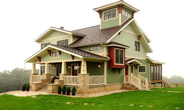 Custom Home With Lookout Tower amp Detached GarageStudio