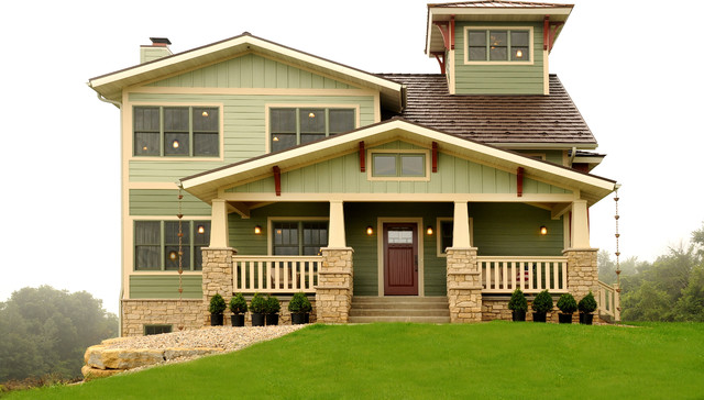 Custom Home with Lookout Tower - Craftsman - Exterior - Other - by ...