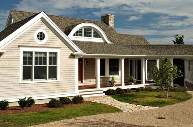 Custom homes eclectic exterior boston by encore for Prefab eyebrow dormer