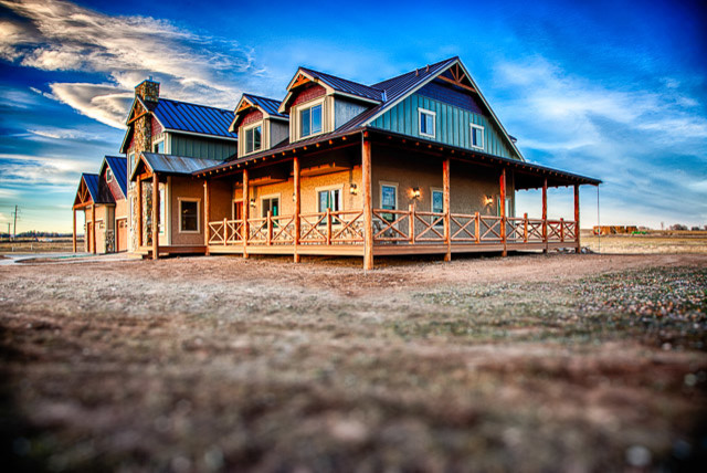 Custom homes rustic exterior denver by savant for Custom rustic homes