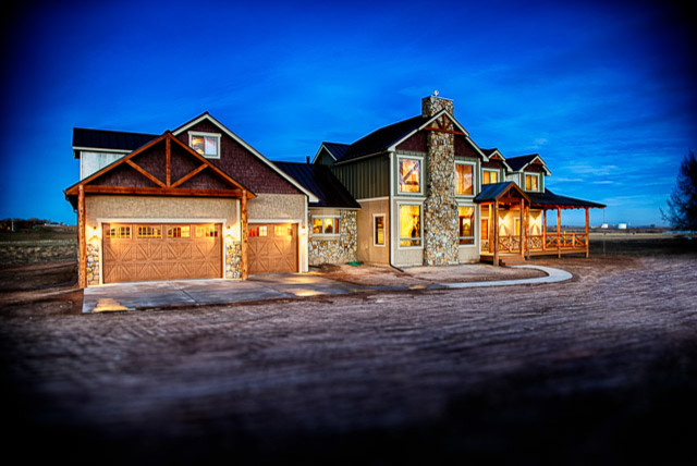 Custom Homes Rustic Exterior Denver By Savant