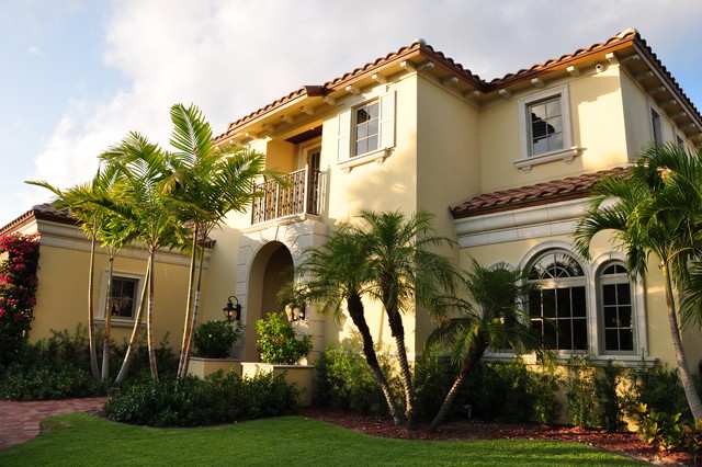 Custom homes mediterranean exterior miami by Mediterranean custom homes