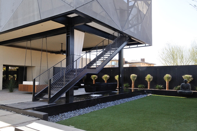 Custom ironwork modern exterior las vegas by jd for Exterior staircases design