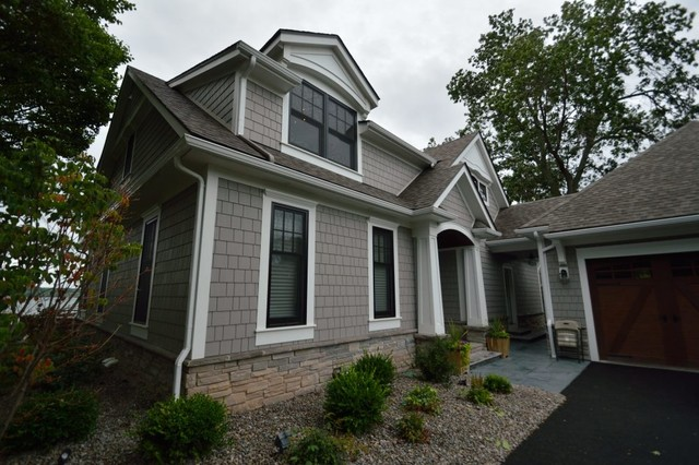 Custom lake home design build exterior other by for Custom home exterior design