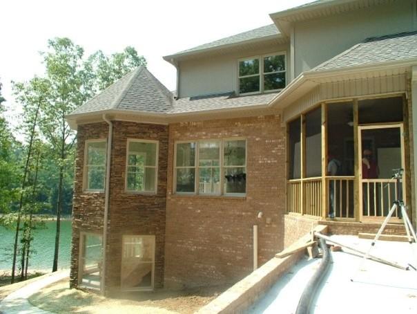 Custom Lake Home traditional-exterior