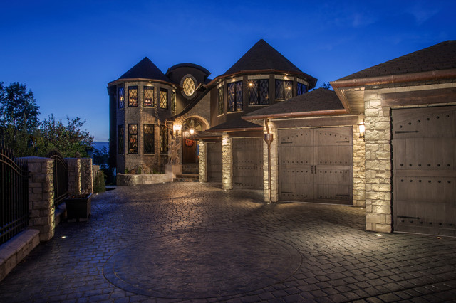 Custom Lake House traditional-exterior
