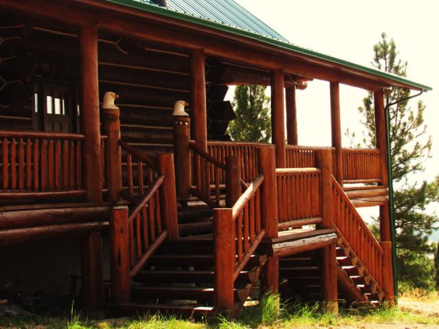 Custom Log Home rustic-exterior