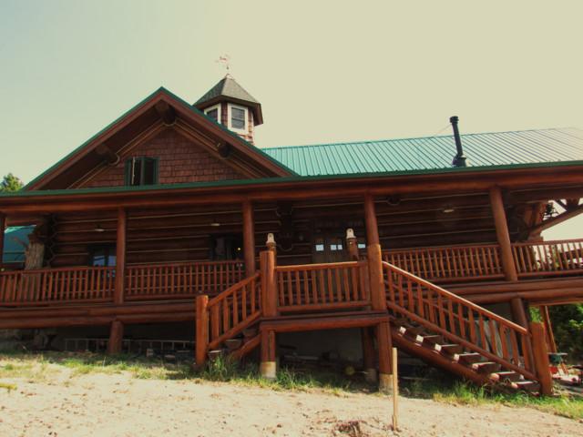 Custom log home rustic exterior for Custom rustic homes