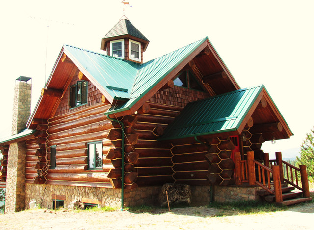 Custom log home rustic exterior other by northwest for Custom rustic homes