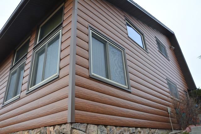 Custom Log Home Steel Log Siding Cheyenne Wy Rustic