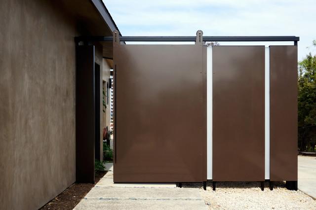 Custom Metal Sliding Barn Door Malloy Residence
