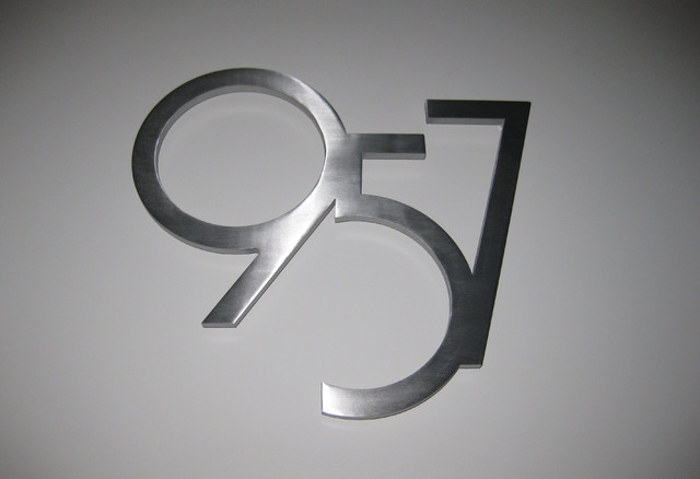 Custom Modern House Numbers Modern Exterior Phoenix By Modern House Numbers