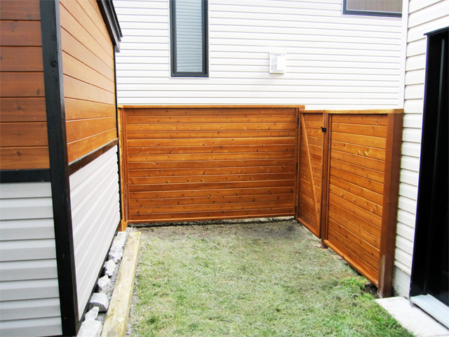 Custom modern shed and Fence Modern Exterior Ottawa by Lumbec