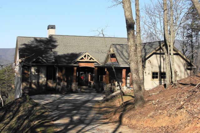 Custom mountain home rustic exterior atlanta by for Custom mountain homes