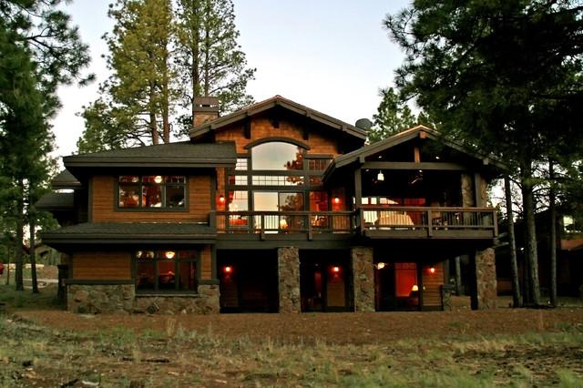 Custom mountain homes northern arizona craftsman for Custom mountain homes