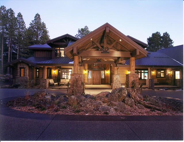 Custom mountain homes of northern arizona craftsman for Custom mountain homes