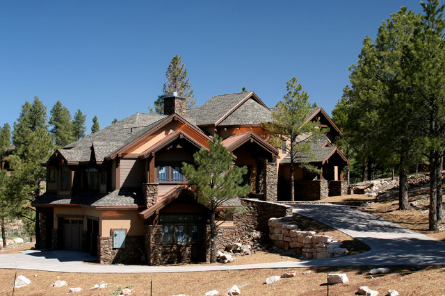 custom mountain homes of northern arizona craftsman exterior other metro by wm king. Black Bedroom Furniture Sets. Home Design Ideas