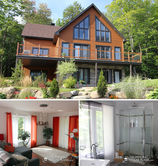 Custom Panoramic View A Frame Chalet by Drummond House