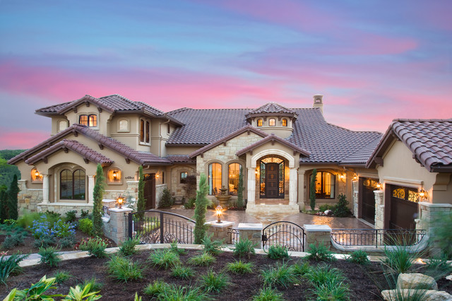 Custom parade home in austin texas mediterranean exterior austin by jenkins custom homes Custom home designs