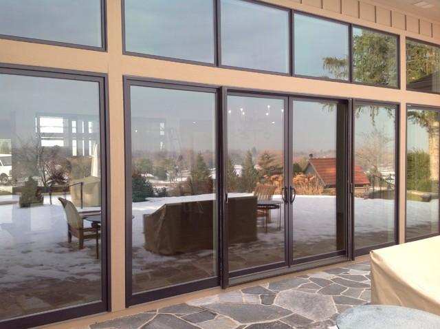 Custom patio doors andersen metal clad doors modern for Custom made exterior steel doors