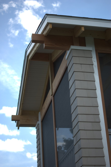 Custom Screened Porch Camp Ellis Maine traditional-exterior