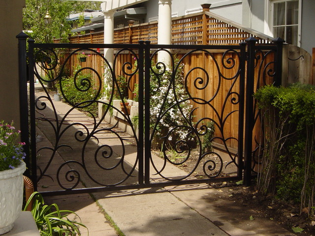 Custom scroll gate traditional exterior