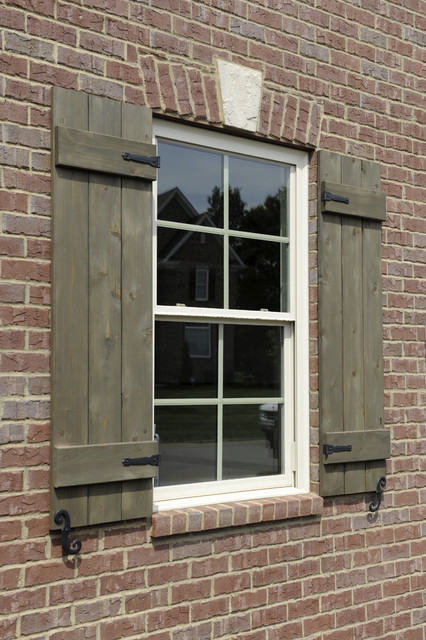 custom shutters with hardware traditional exterior