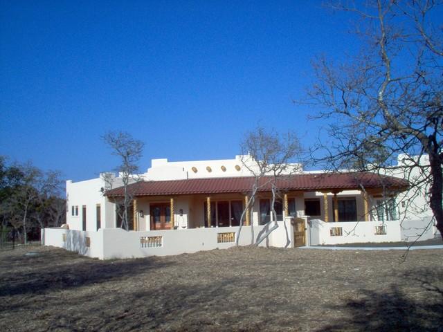 Custom Southwest Style Home Mediterranean Exterior