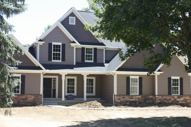 Custom 2 story home dublin for Building a 2 story house