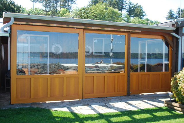 custom wood sliding glass door - contemporary - exterior ...