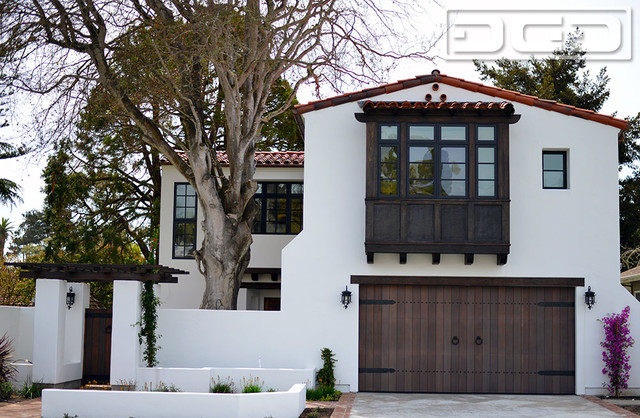 Customized Wood Garage Door Gate Design In An Authentic Spanish