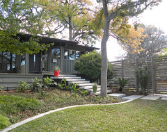 Dallas, TX: Mark and Betsy midcentury-exterior