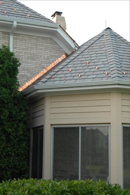 Davinci Slate Roofing Installation Traditional