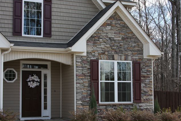 Dawson county ledge stone partial exterior for Exterior ledgestone