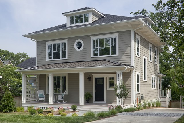 Dc area 39 s first passive house craftsman exterior dc for Four square home designs