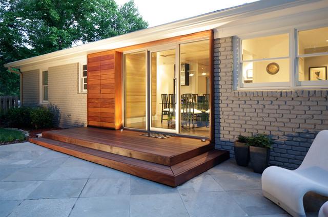 Decatur contemporary renovation midcentury exterior - Mid century modern exterior renovation ...