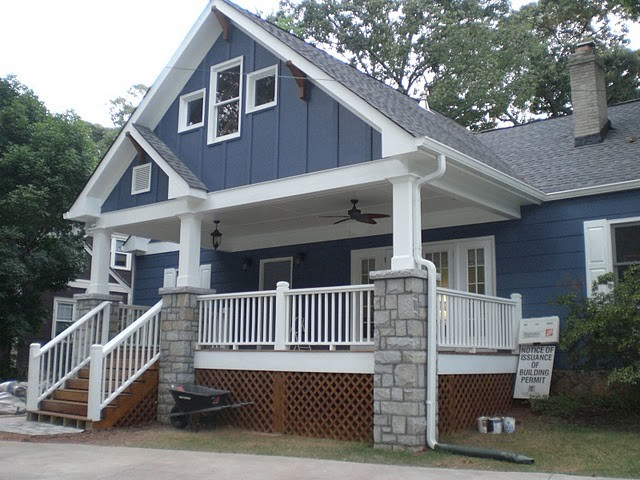Decatur Cottage Front Porch Addition traditional-exterior