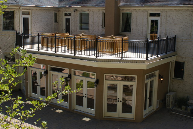 Deck Top Sunroom 2 Traditional Exterior