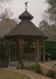 Decra Stone Coated Metal Roof Replacement On Gazebo Spring, Houston Texas - Traditional ...