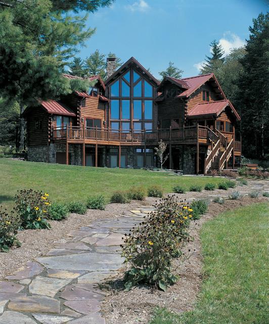 Lake Luxury Log Homes: Deep Creek Lake, MD Waterfront Log Home