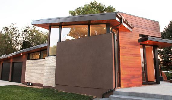 denver mid century modern renovation modern exterior