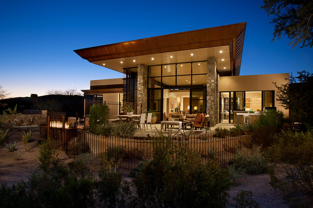 Desert Contemporary Contemporary Exterior Phoenix By Lawrence Lake Interiors
