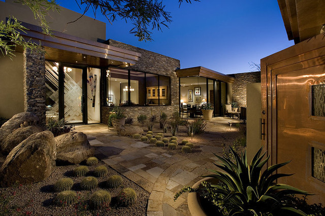 Desert Highlands Remodel contemporary-exterior
