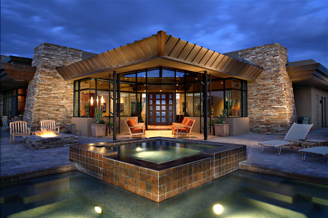 Desert Mountain Estate Contemporary Exterior Phoenix